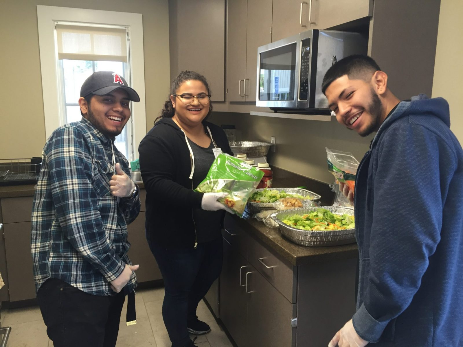 Options for Youth Students Cook Meal for Ronald McDonald House Families